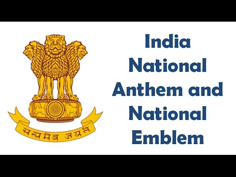 India National Anthem And National Emblem Overview Youtube