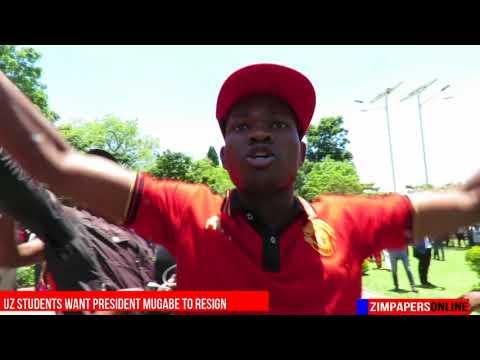 UZ students want President Mugabe to resign