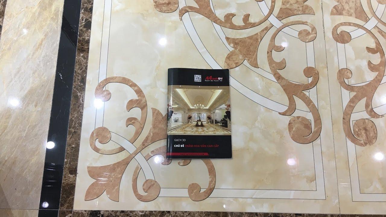 Gạch 3D Lát Nền Nhà Mẫu Hoa Văn Thảm Cao Cấp Sang Trọng