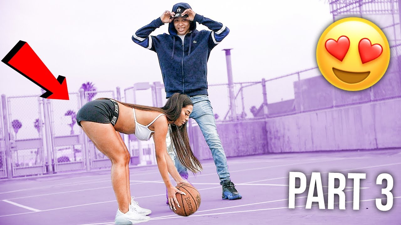 PLAYING CUTE LA GIRLS IN A 1V1 FOR THEIR NUMBER! 😍🏀 | PART 3