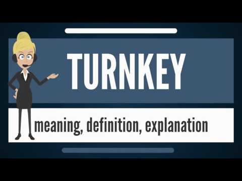 What is TURNKEY? What does TURNKEY mean? TURNKEY meaning, definition & explanation