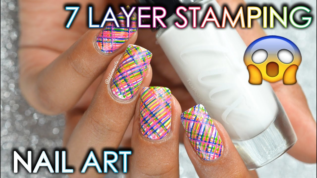 7 Layer Stamping Nail Art My First Collaboration Video Wopal