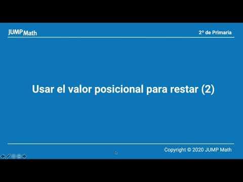 2. Unidad 7. Usar el valor posicional para restar II