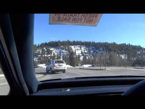 Donner Pass Sierra Nevadas Ice Mountains & Town Scenery Road Trip from Reno I80