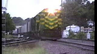 MKT GP40 197 EB though Kirkwood, MO, 8-21-1988, The Katy's Final Day!