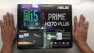 intel Core i5 8400 ASUS PRIME H370 PLUS SAMSUNG 860 EVO 250GB SSD ASUS GEFORCE GT1030