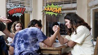 ARM WRESTLING CHALLENGE /The K Family and Sister Forever  !!!VLOG#248