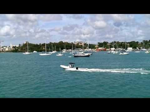 Départ de la rade de Pointe-à-Pitre avec l'Express des îles - Guadeloupe