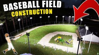 BASEBALL FIELD CONSTRUCTION- GRADING SAND, DIRT & GRASS | FARMING SIMULATOR 2017