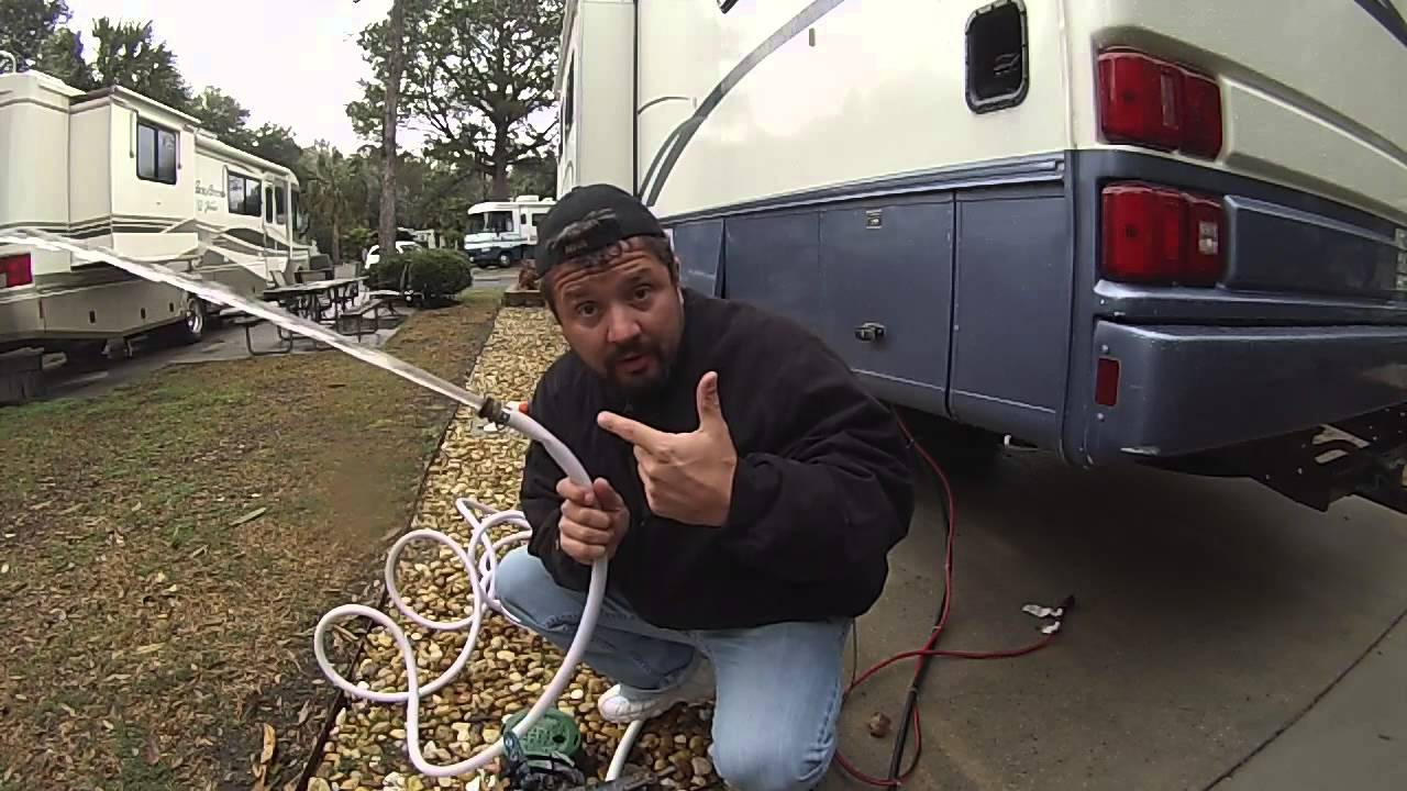 camping without sewer hookup