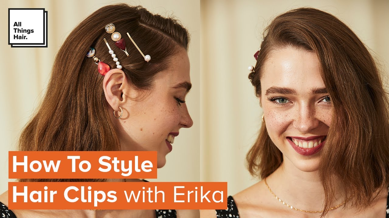 How To Wear Hair Clips Easy Hairstyles Youtube
