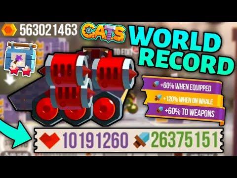 C.A.T.S WORLD RECORD MACHINE! MAXING DAMAGE & HEALTH! MAGIC TOOLBOX ALL MAX! Crash Arena Turbo Stars