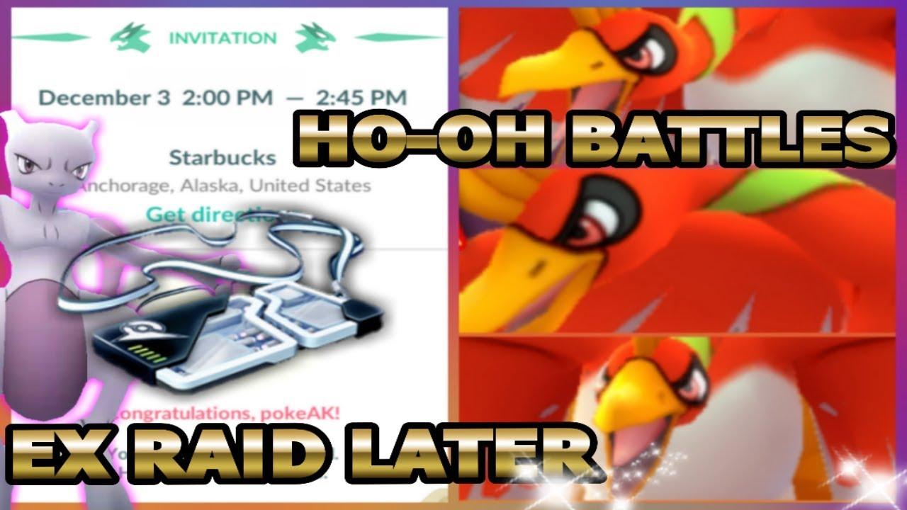 POKEMON GO EX RAID LATER TODAY | HO-OH GYM BATTLES - YouTube