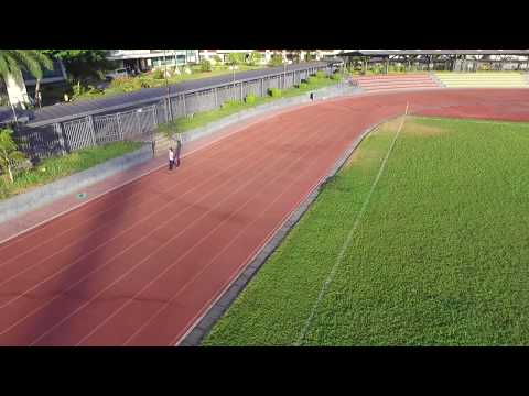 Aerial view of University of Makati Oval