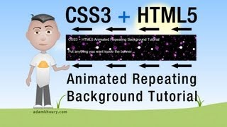 HTML5 CSS3 Animated Repeating Tile Background keyframes Tutorial