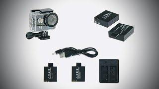 Unbox SJCAM, EKen & etc Battery Accessories + MicroSD 64Gb by Samsung