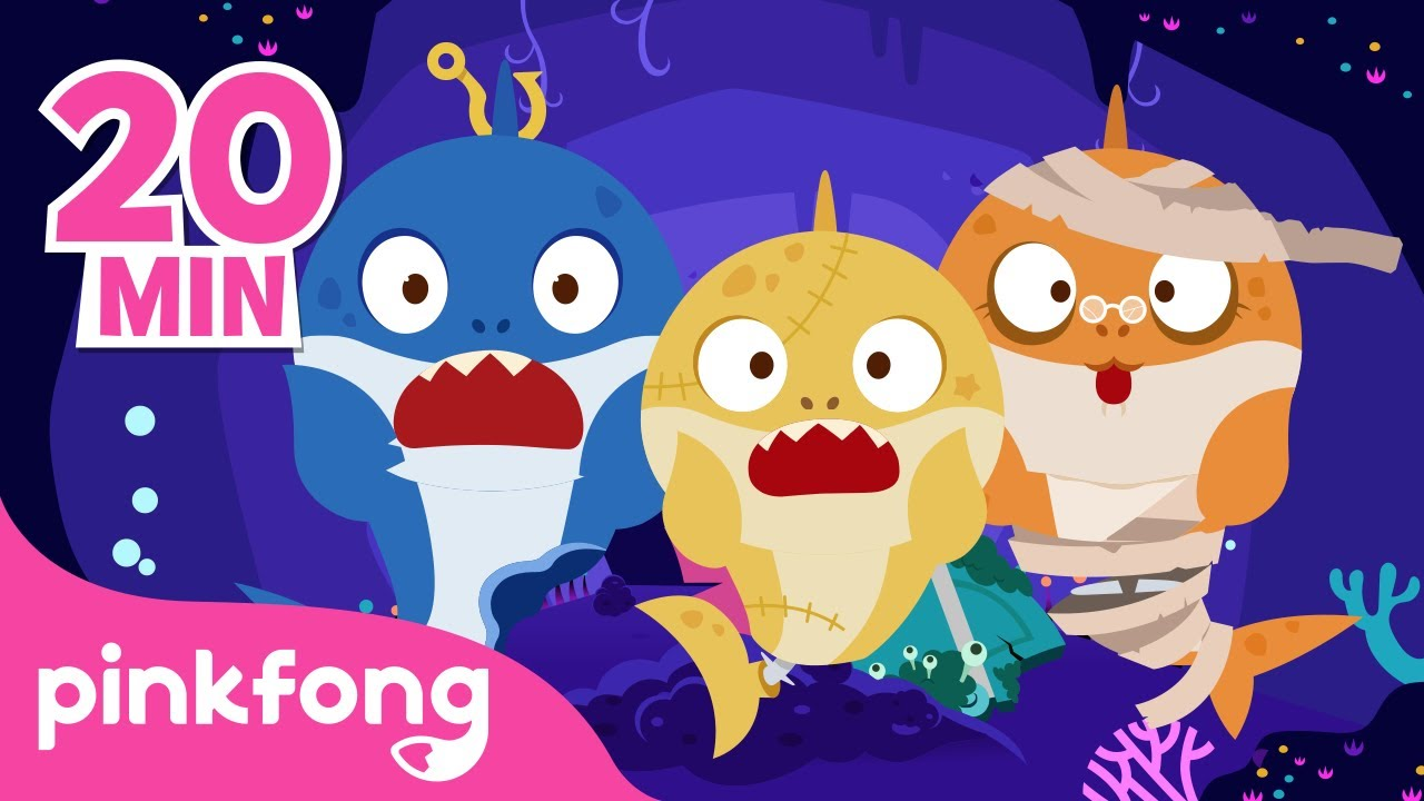 Zombie Sharks Doo Doo Doo! | Halloween Songs | +Compilation | Pinkfong Songs for Children