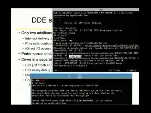 FOSDEM 2014 - Gnuhurd Dde Userland Device Drivers
