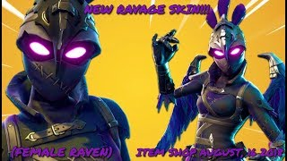 BUYING FORTNITE RAVAGE SKIN!!! (Female Raven) ITEM SHOP AUGUST 16, 2018