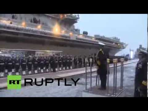 Video  Russia hands over modernized aircraft carrier to India