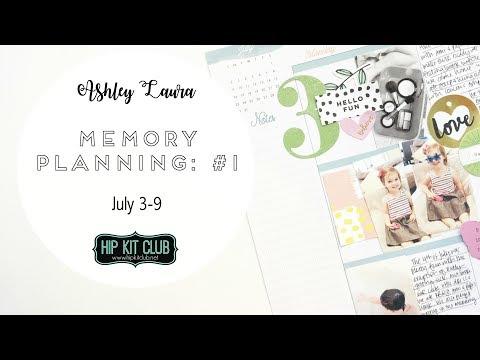 Memory Planner Process: #1 | Ashley Laura | June 2017 HKC