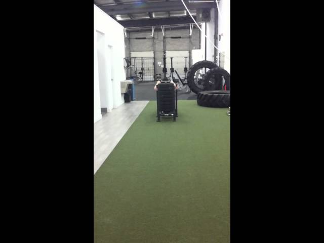 HIIT cardio with the prowler sled