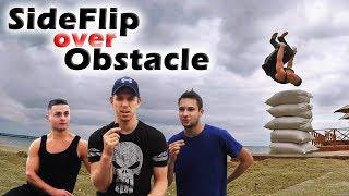 """Как научиться """"Боковое сальто через препятствие"""" ( Side Flip over Obstacle Tutorial)"""