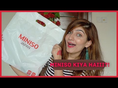 MINISO HAUL! First impression and Product TESTING!   Anushae Says