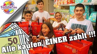 alle-kaufen-ein-einer-bezahlt-alles-challenge-im-supermarkt-family-fun