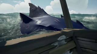 SEA OF THIEVES | Megalodon swims around the Ship Gameplay Clip (2018)