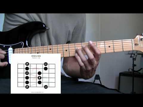 Cours de Guitare Gamme Pentatonique mineure pos 1 - Impro Solo Blues Rock