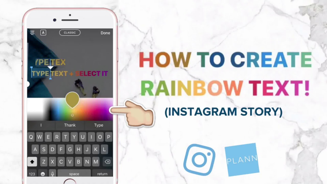 HOW TO CREATE RAINBOW TEXT (INSTAGRAM STORY)