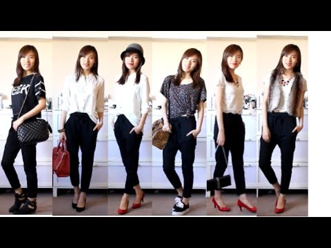 How to wear harem pants with flats