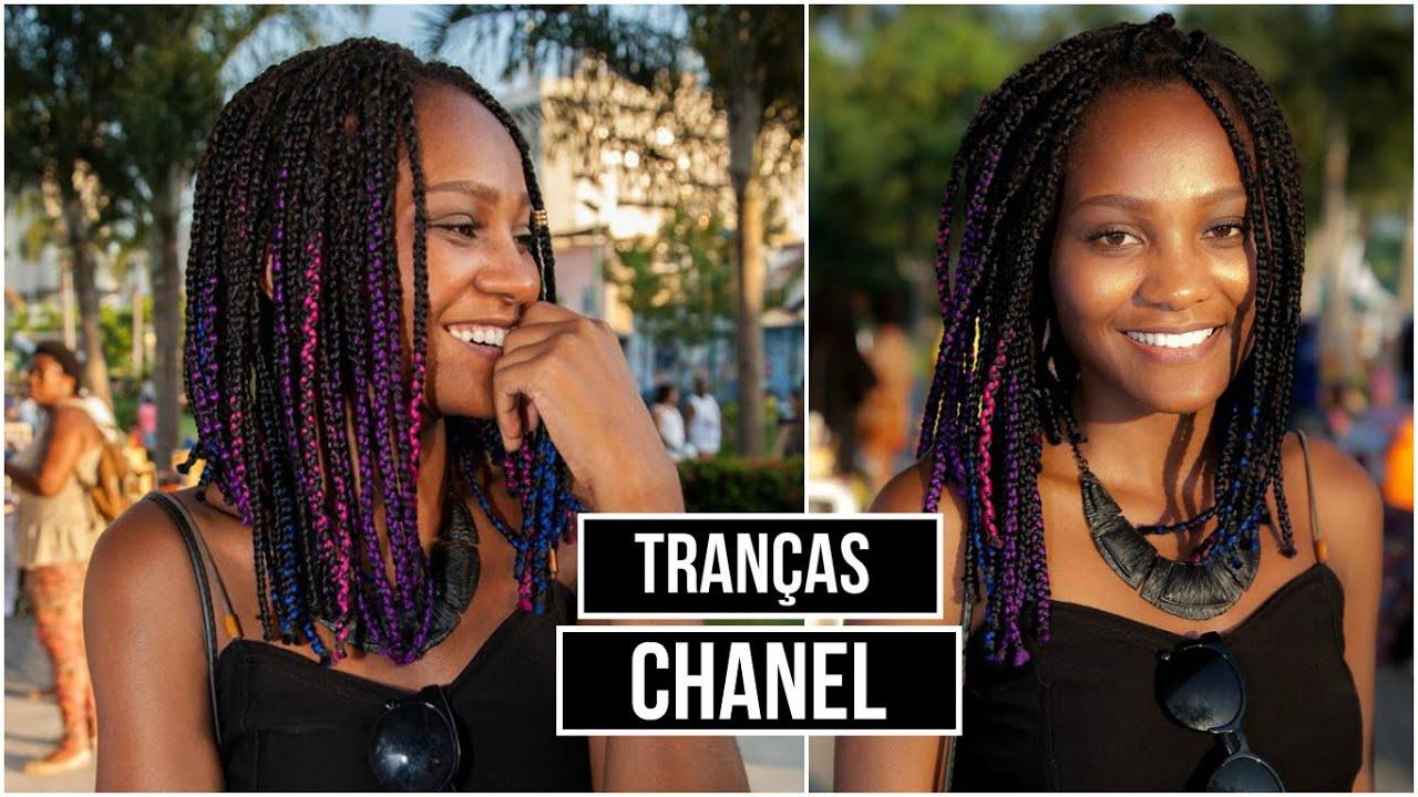 Como Cortar Box Braids Chanel Tran 199 As Curtas Youtube