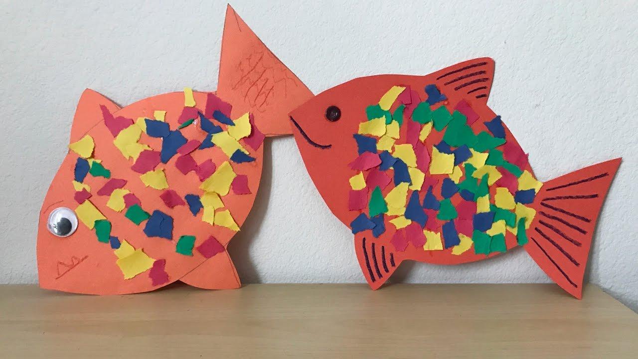 Kids Crafts - Rainbow Fish - Happy Crafty - YouTube