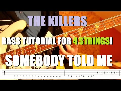 """The Killers - """"Somebody Told Me"""" Bass Tutorial"""