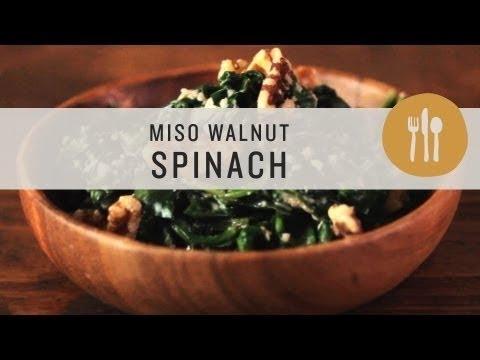 Superfoods - Miso Walnut Spinach