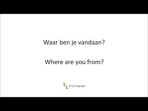 Learn Dutch English - Basic conversation - Nederlands Engels sentences - zinnen 1