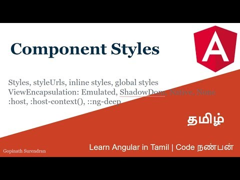 14) Component Styles   Learn Angular in Tamil   Code Nanban thumbnail