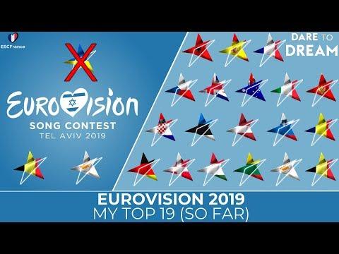 Eurovision 2019 | My Top 19 (So Far) | (+Belgium 🇧🇪| Cyprus 🇨🇾) (-Ukraine 🇺🇦)
