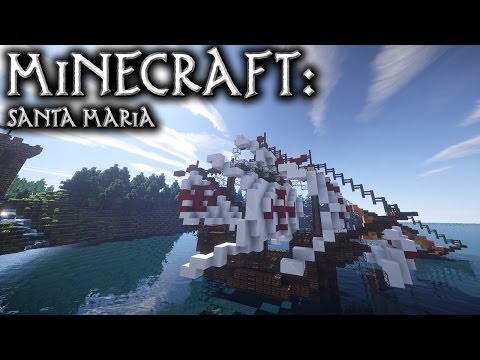 Minecraft: Small Carrack Tutorial (Santa Maria)