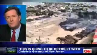 Governor Christie on CNN Piers Morgan with Hurricane Sandy Update