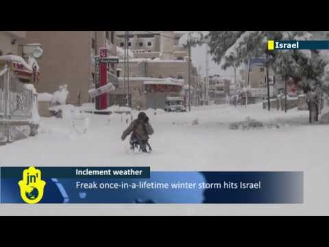 Mideast Winter Storm: Israel faces another freezing night deep in the snow