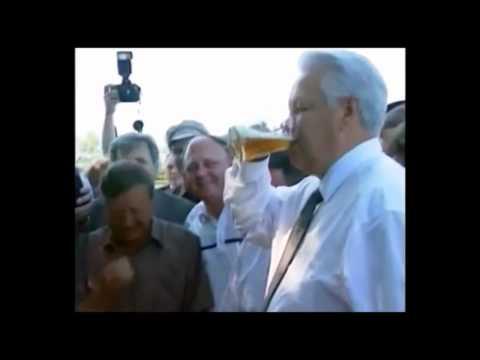 Borys Jelcyn przyjął piwne wyzwanie/ Boris Yeltsin takes a beer challenge
