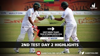 Bangladesh vs Windies Highlights || 2nd Test || Day 2 || Windies tour of Bangladesh 2018