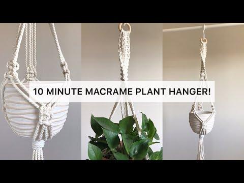 diy-macrame-plant-hanger-|-10-minute-plant-hanger-|-easy-macrame-plant-hanger-#1