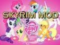 Elder Scrolls V Skyrim Mods - Cute My Little Pony Horse Texture Skin Mod...GIANT HEAD!