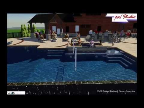 Huntington, WV Swimming Pool Design - VizX Design Studios - (855) 781-0725