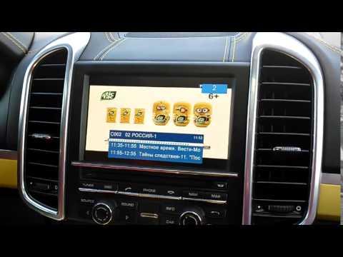 PORSCHE Cayenne 2015: видеоинтерфейс, навигационный блок. Навигация