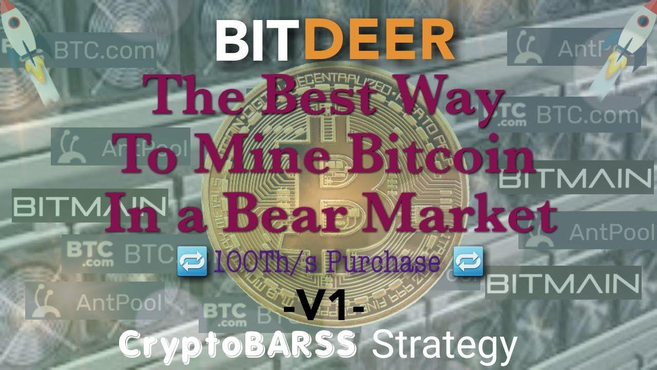 #BITDEER #BITMAIN #CryptoBarss -V1- The Best Way To Mine in a Bear  Market?100Th/s #CryptoBarss